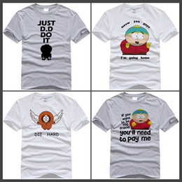 Wholesale Red Shirt Guy - South Park Cartman T-Shirt Gets an Anal Probe South Park Shirt Cartman Top Tees T Shirt Screw You Guys