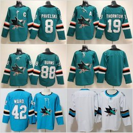 3104f24c229 2018 AD Ice Hockey San Jose Sharks Jersey 8 Joe Pavelski 19 Joe Thornton 39 Logan  Couture 88 Brent Burns Green Black All Stitched For Men
