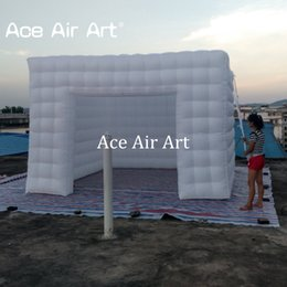 Wholesale show tents - 2018 Latest design nice lighting inflatable squar cube tent for trade show and exhibition