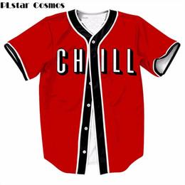 PLstar Cosmos Chill Short sleeve Fashion Women Men t shirt Cool baseball  Jersey harajuku style V-Neck Cardigan baseball t shirt a1d2bb40f