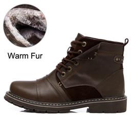 2f11488ecf4c Vanmie Winter Schuhe Männer Stiefel Warme Winterstiefel Männer Leder  Motorrad Wasserdichte Gummi Booties Mode Männliche Schuhe