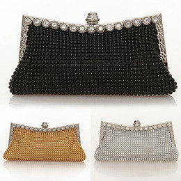 Wholesale wholesale clutch purse frames - Women Stylish Rhinestone Handbag Evening Party Clutch Bag Banquet Tote Purse