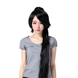 Cosplay Soul Eater Nakatsukasa Tsubaki 2 ponytails 120 cm siyah kanekalon peruk nereden
