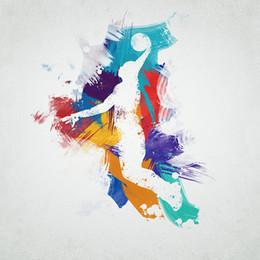 -basketball-player-Unframed Modern Canvas Wall Art per la casa e l'ufficio Decorazione, Pittura, Pittura animale, Cornice pittura da