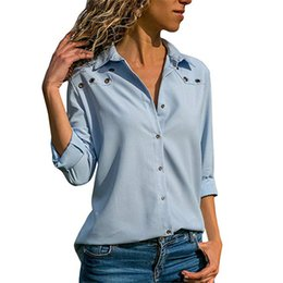 1c5fba6c9bb good quality White Blouse Women Solid Autumn Office Womens Tops And Blouses  Plus Size Long Sleeves 2018 Casual Blouse Camisa Feminina
