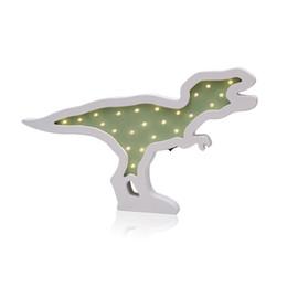 Décor à la maison Accessoires Creative Bois Dinosaure LED Night Light Ornements LED Lampe Enfants Jouet Cadeaux Tenture murale Décor ? partir de fabricateur