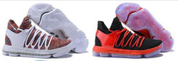 Wholesale Pure Leather Shoes For Men - 2018 New Arrival KD 10 X KD10 White Chrome Pure Platinum Basketball Shoes for Kevin Durant Sports shoes Size 7-12