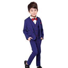 5f6ee80bc80 3pcs sets Boys Suits for Weddings Prom Costume Children Clothes Set enfant  garcon Boy Blazer Pants Vest Formal Suit