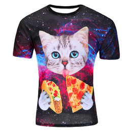 clothes space Promo Codes - 2018Newest galaxy space printed creative t shirt 3d men's tshirt summer novelty 3D feminina  tee shirts clothes