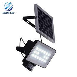 Wholesale 12v Solar Panels - 30W Solar Panel LED Floodlights IP65 Security Garden Light PIR Motion Sensor Solar Lamps For Garden Waterproof Outdoor Lighting