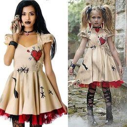 2a526da3c9c children s fashion dresses Promo Codes - Fashion Women Girls Halloween  Costume Voodoo Doll Costumes for