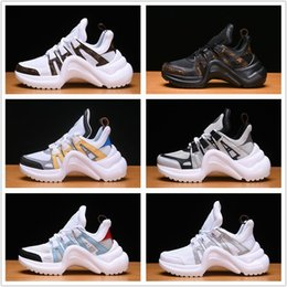 tpu football 2018 - 2018 NEW Luxury women's Archlight sneaker Men Genuine Leather Trainers TPU Outsole Casual Shoes Runner Shoes 7 colors size eur36-44
