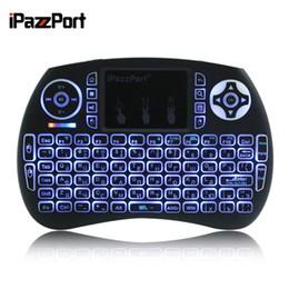 Wholesale Mini Keys Keyboard - iPazzPort Mini Keyboard Russian English Italian German Spanish Version 2.4GHz Wireless Mini 92 Key number Keyboard with Blacklit