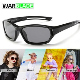 66b2c81e2a32e WBL Bebê Bonito Polarizada Ciclismo Óculos De Sol Dos Miúdos Da Criança  Meninas Meninos Óculos de Esportes TR90 Polaroid Óculos De Sol Shades Lentes  ...