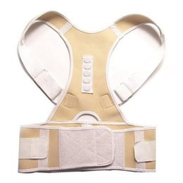 Wholesale Posture Therapy Brace - wholesales Posture Corrector Magnet Therapy Back Support Brace Adjustable Lumbar Belt Men Women Body Support Corrector