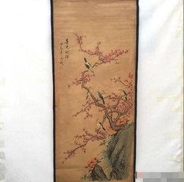 famosi dipinti floreali Sconti Oggetti d'antiquariato, vecchi pezzi d'antiquariato, dipinti famosi, dipinti, dipinti, Zhongtang, primavera fredda, luminosa