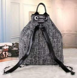 Wholesale Black Cotton String - New Vogue Style Men's Women's Canvas Handbags Shulders Backpack Shoulder Bag Tote Bag Purse Backpacks With Free Shipping