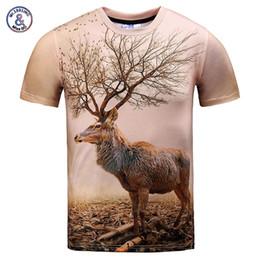 Wholesale Browning Deer Shirt - Mr.1991INC Very Nice Model T-shirt men women 3d t shirt funny print autumn tree antlers deer summer tops tees plus size XXXL
