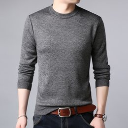 32fdb08561513c sweaters knitting fashion pullover korean 2019 - 2018 New Fashion Brand  Sweaters Man Pullovers Solid Color