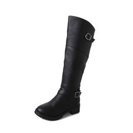 2019 botas por encima de la rodilla Zapatos de mujer 2018, botas de moda de otoño para mujer, botas de cuero sobre la rodilla, botas de mujer hasta el muslo, botas de mujer XZ-055 rebajas botas por encima de la rodilla