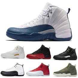 Zapatos de diseñador Paquete de graduación Zapatos de baloncesto 12 CP3 Blanco Gimnasio Rojo Gris oscuro Hombres Mujeres Zapatillas Taxi Azul Gamuza Juego de gripe Zapatillas deportivas desde fabricantes