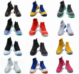 Wholesale Mens Basketball Shoes Mvp - Stephen Curry 4 Basketball casual Shoes steph Mens Curry 4 Gold Championship MVP Finals Sports training Sneakers Run Shoes Size 40-46