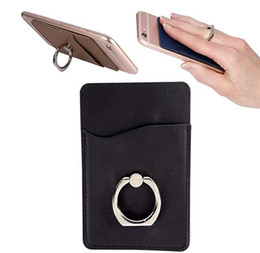 porte-badge pomme Promotion Étui en cuir de qualité supérieure avec porte-cartes de crédit pour téléphone portable avec porte-cartes en cuir PU avec porte-cartes d'identité