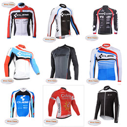 Wholesale Cube Mtb - CCC CUBE team Cycling Winter Thermal Fleece jersey 2018 New Sports Men's MTB Bicycle Cycling Jersey Outdoor Sports Clothing D803