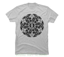 Argentina 100% algodón O-cuello recto de manga corta Hamsa Eye Lotus Mandala - Negro Camiseta gráfica de los hombres cheap lotus t shirts Suministro