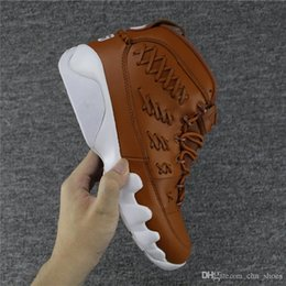 Wholesale Mens Sports Gloves - Mens 9 9S Men Pinnacle Basketball Glove shoes Black brown number 35 45 IX Basket Ball Sports Sneaker Trainers Shoes us8-us13