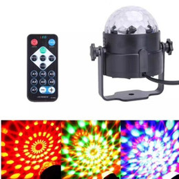 Wholesale Disco Laser Light Remote Control - Hot Sale 3W RGB IR Remote LED Stage LED Crystal Magic Ball Sound Control Laser Stage Effect Light Party Disco Club DJ Light Mini Laser