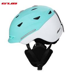 cascos ops core Rebajas GUB 2018 Snow Unisex Ski Helmet Ultralight Skiing Helmet For Men Snowboard Skateboard Winter Outdoor Sports Safety