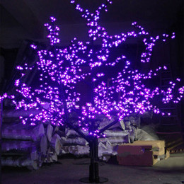 Luzes artificiais ao ar livre das árvores on-line-Ao ar livre LED Artificial Flor De Cerejeira Árvore de Luz Da Árvore de Natal Lâmpada 1248 pcs LEDs 6ft / 1.8 M de Altura 110VAC / 220VAC À Prova de Chuva transporte da gota