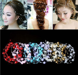 billige blumensträuße für braut Rabatt Billig Verkauf Braut Haarschmuck Perlen Geschmückten Kopfschmuck Weiß Dyi Bouquets Geschmückten Perlen Für Hochzeit Braut Kopfschmuck Kopfschmuck
