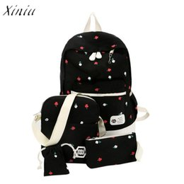 5f9bce6d9 2019 moda escuela media Bolso grande de la mochila de la lona de los  estudiantes de