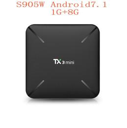 Wholesale YENI Akıllı TV KUTUSU Android TX3 MiNi Amlogic S905W QuadCore H GHz WiFi Google Play Store Netflix K IPTV Medya Oynatıcı