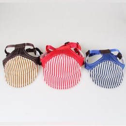 f7dc134e857 Dog Breathable Cap 2018 Summer Pet Dog Hat Cute Accessories For Small Dogs  Striped Printed Baseball Dog Cap CCA10139 30pcs affordable pet caps hats