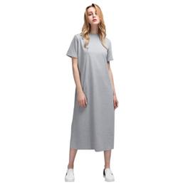 f9eecc520169d5 Discount side slit tee shirts - New Summer Long T Shirt Women Black T-Shirt
