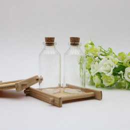 Wholesale Glass Wishing Bottles - 30ML 30X70X12.5MM Mini Glass Vials Wish Bottles With Cork Stopper Empty Message Weddings Wish Jewelry Party Favors Tube