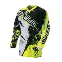 Wholesale Army Cycling Jersey Xl - New Cool Fashion Men's Long Sleeve Element Racewear Dirt Bike Jersey Motocross Moto Apparel Jerseys Cycling Tops KAY