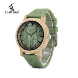 Canada Le bois de bambou de BOBO BIRD de la Chine original observe les hommes OEM de montres-bracelet de quartz de silicium masculins erkek kol saati Offre