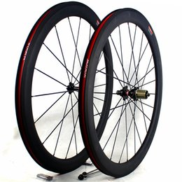 Wholesale tubular race wheels - carbon bicycle wheels 50mm basalt brake surface clincher tubular road cycling bike wheelset width 25mm 3K matt racing carbon wheels