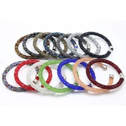 Wholesale mesh link bracelet - 2018 Mesh Crystal Cuff Star Bracelet For Women With Crystal Stones Filled Clasp Bracelets Bangles Hot Sale Free Shipping G279S