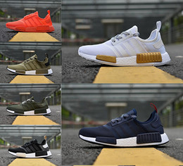 Wholesale Popular Cities - 2018 popular Nmd R1 Primeknit PK core black white 3m army green MeshTriple City Pack men women nmd sport Running shoes factory outlet