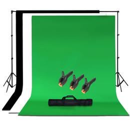 2019 tela de foto preta Atacado-Studio Photo Black White Verde Chroma Key fundo Backdrop Screen Stand Kit tela de foto preta barato
