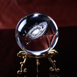 Wholesale 6CM Diametro Globo Galaxy Miniature Sfera di Cristallo D Laser Inciso Quarzo Sfera di vetro Sfera Accessori Decorazione Della Casa Regali