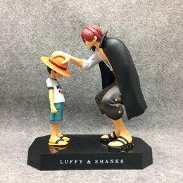 Coleções de uma peça on-line-One Piece figuras de ação Anime Chapéu De Palha Luffy Shanks enfeites de cabelo vermelho boneca de presente brinquedos criança luffy modelos de coleta de pvc