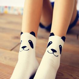 meias caramelo Desconto Novo real caramella caráter algodão marca meias femininas quentes bonito dos desenhos animados panda meias coreano para as mulheres Frete grátis sokken