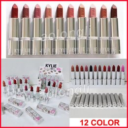 Wholesale Valentine Wholesale - Kylie jenner matte Lipsticks holiday silver series 12colors lipstick Red Hot Lovesick Valentine Makeup kylie cosmetics DHL free shipping