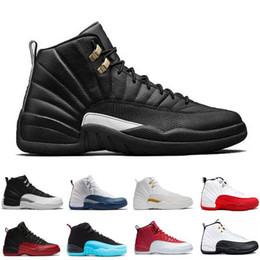 Commercio all'ingrosso 12 uomini scarpe da basket flu gioco taxi playoff 12s il maestro lupo grigio Università blu palestra rosso bianco sneaker scarpe sportive atletiche da